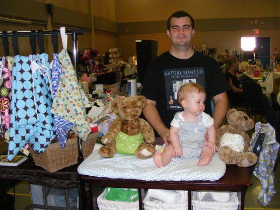 Our little cloth diaper demo baby!  <3 www.naturebumz.com