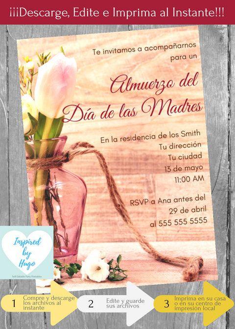 Invitación Almuerzo Día De Las Madres Invitación Día De Las