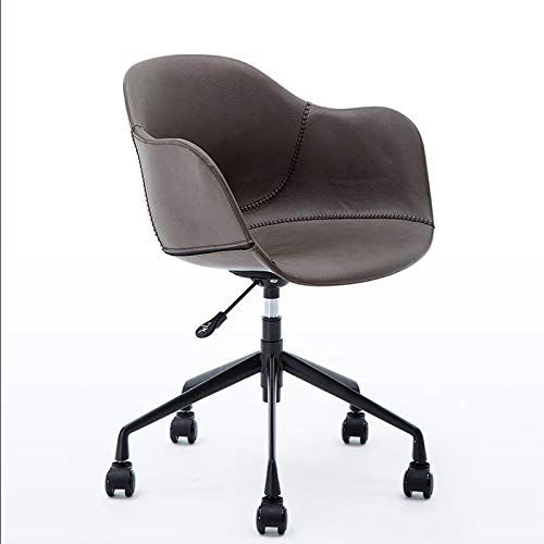 Office Chair Upholstered Desk Chair Adjustable Height Leather