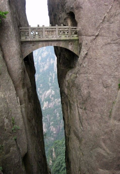 Bridge of the Immortals in Huangshan, China: