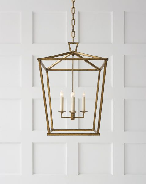 darlana medium lantern by visual comfort Available at Mayer Lighting Showroom www.mayerlighting.com
