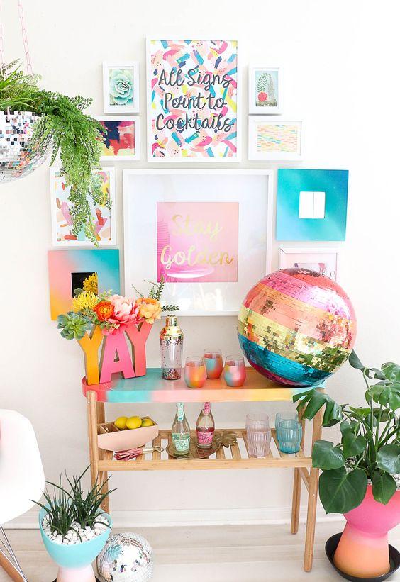 Modest Birthday Home Decor