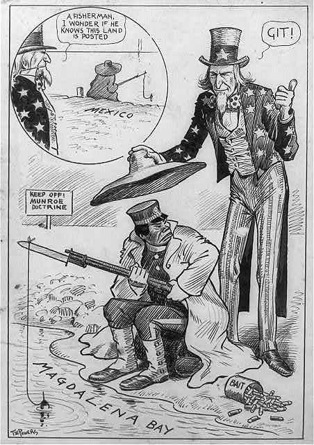 Printables Monroe Doctrine Worksheet 1912 thomas powers cartoon keep off monroe doctrine political doctrine