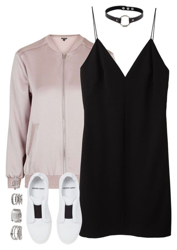 """""""Untitled #4157"""" by maddie1128 ❤ liked on Polyvore featuring T By Alexander Wang, Pierre Hardy, Forever 21 and Retrò"""