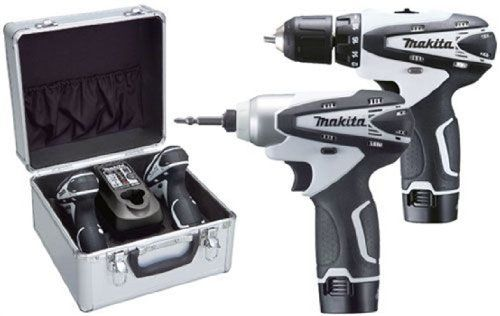 Makita LCT204W Cordless Drill Plus Impact Driver Kit - White Makita http://www.amazon.co.uk/dp/B002FOY834/ref=cm_sw_r_pi_dp_Usonwb10D3NTE