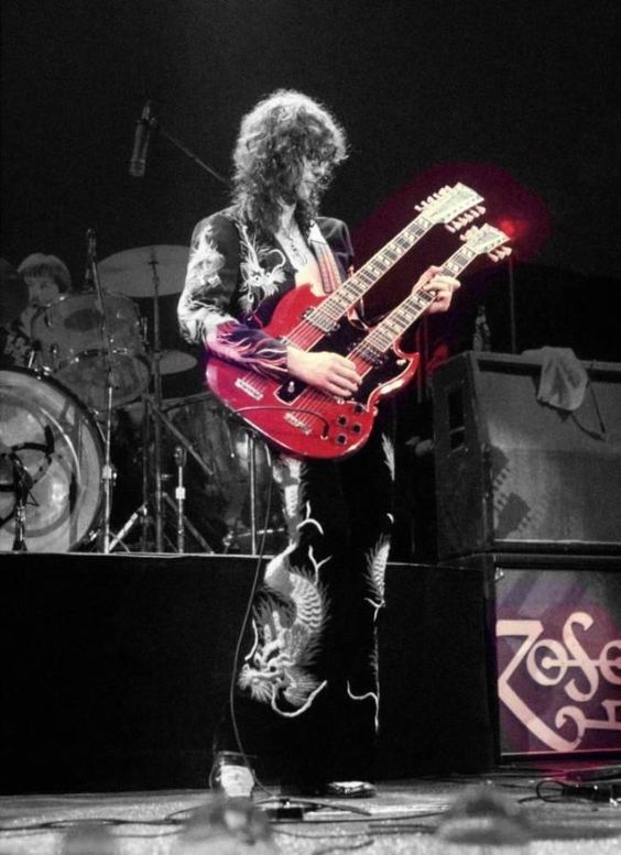 Jimmy Page With Double Neck Guitar!!