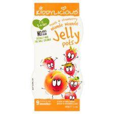 Kiddylicious Peach In Strawberry Jellies 2x90g