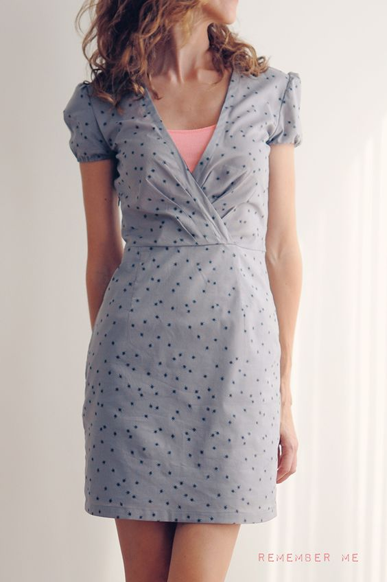 vanessa pouzet petite robe cousue main dress cache coeur remember me tissu atelier