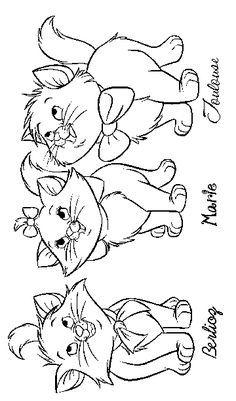 Aristocat Kittens | disney Zeichnung offen | Ausmalbilder ...