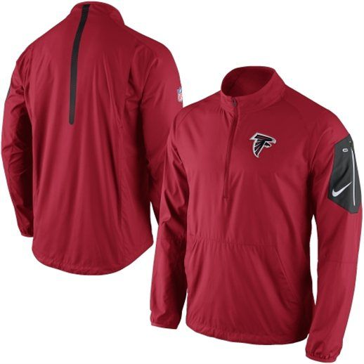 Nike Atlanta Falcons Red Lockdown Half-Zip Jacket | Atlanta and ...