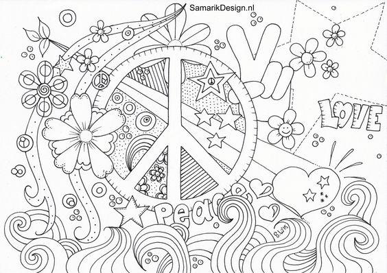 Kleurplaat Voor Volwassenen. Peace