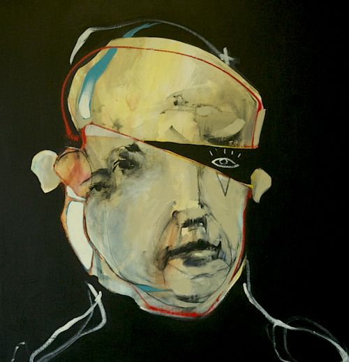 Third eye Pirate. mixed media,1mx 1m, 2011 found here.: