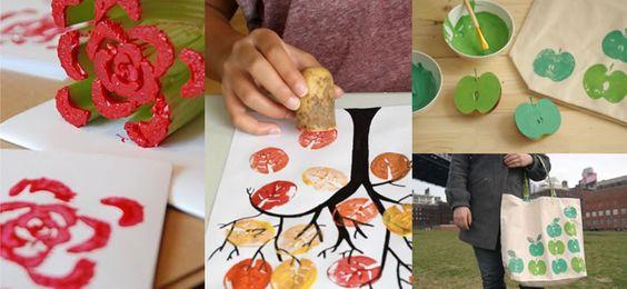 Hoy te presentamos una técnica de dibujo perfecta para los más pequeños de la casa: La estampación. Con ella crearemos nuestros propios tampones hechos con frutas o verduras y aplicaremos el color por estampación. Queda muy bonito y será una actividad perfecta para que los niños experimenten con la pintura y el color.