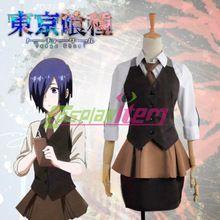 Custom made Anime cosplay costumes Tokyo ghoul touka kirishima travail temps partiel uniforme toute taille(China (Mainland))