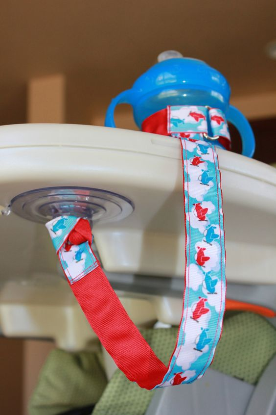 Bottle Tether, Toy Tether, Sippy Strap with Suction Cup- Vehicles. $10.00, via Etsy.