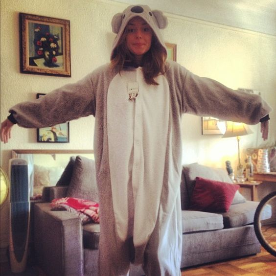 Photo by gracehelbig - Grace Helbig in Koala Jammies.  I love this lady so hard.