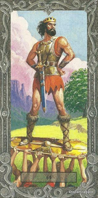 King of Wands - Tarot Of The Druids (De Vecchi)