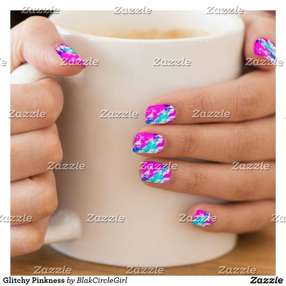 Glitchy Pinkness Minx® Nail Wraps