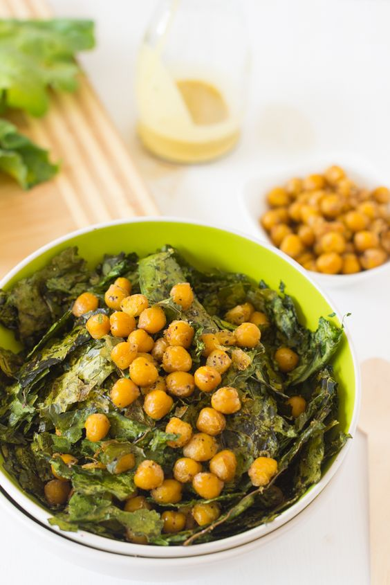 Crunchy Kale & Chickpea Salad with Lemon Poppyseed Dressing - Jessica In The Kitchen
