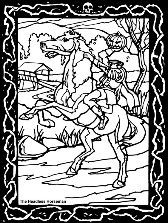 Dover Publications Horror And Dovers On Pinterest Headless Horseman Coloring Pages