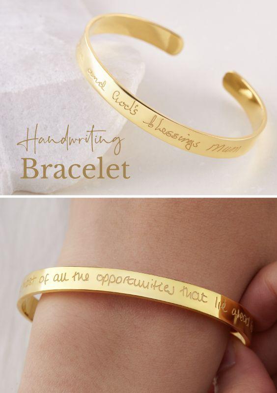 Pin On Handwriting Bracelet