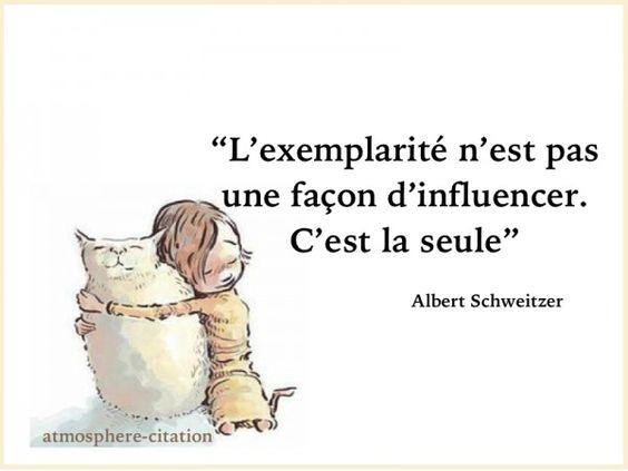 """L'exemplarité n'est pas une façon d'influencer. C'est la seule -Albert Schweitzer Prix Nobel de la paix en 1952, le pasteur protestant français et """"bon docteur"""" Albert Schweitzer (1875-1965) fondait, il y a 100 ans, l'hôpital de brousse de Lambaréné, au Gabon a"""