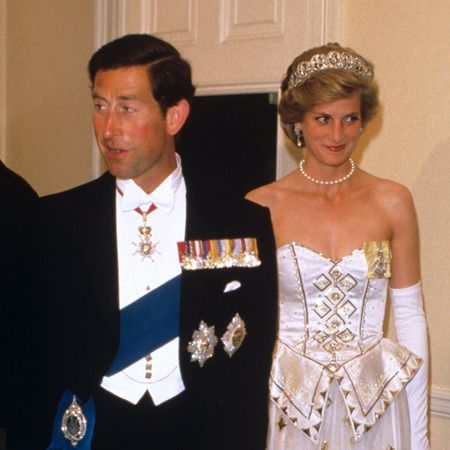 The Princess of Wales arrives at the German Embassy in London on Thursday, July 3, 1986, for the banquet given by the President of the Federal Republic of West Germany, Dr. Richard von Weizsaecker, in honor of Britain's Queen Elizabeth II.