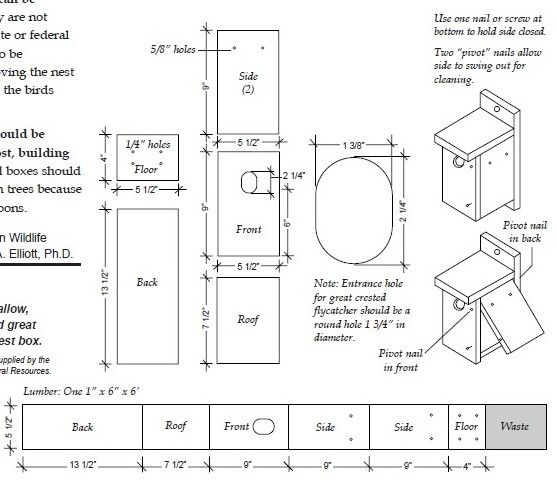 Wood duck nest box plans bird houses bird feeders for Manitoba house plans