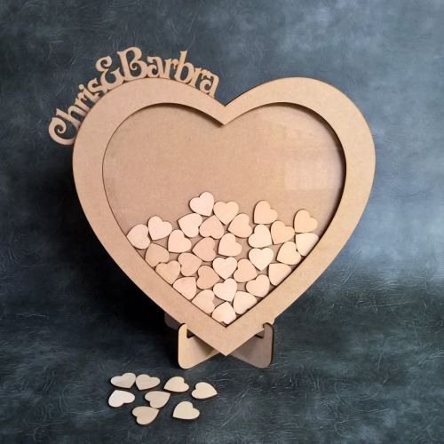 Wedding Drop Box with Personalised Heart