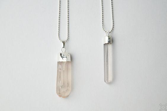 Kette mit Kristallspitze, Kristall, silber, 70 cm von eve yewls auf DaWanda.com