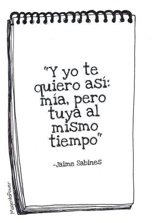 Y yo te quiero