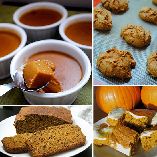 10 Healthy Pumpkin Recipes. My favorite is the TWO ingredient pumpkin spice cookies! Yum! :)