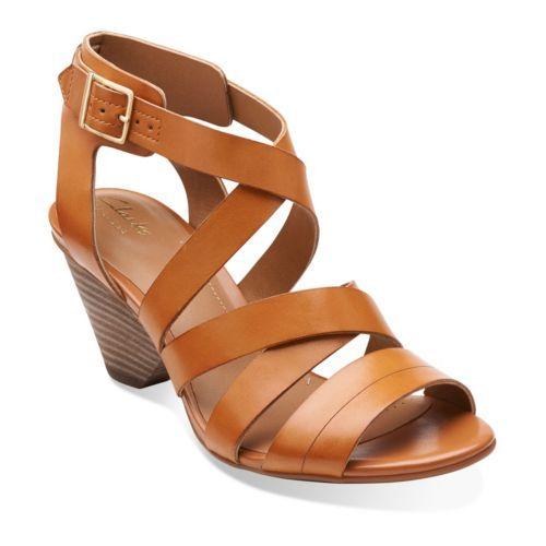 Ranae Estelle Cognac Leather - Wide Shoes for Women - Clarks