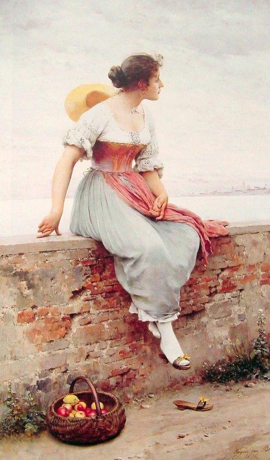 A Pensive Moment, Eugene de Blaas