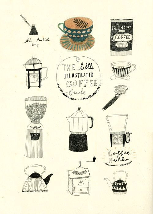 An Idea For A Coffee Book Cover Katt Frank Ilustracion De Cafe