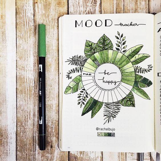 10 trackers indispensables pour votre Bujo : le Mood tracker