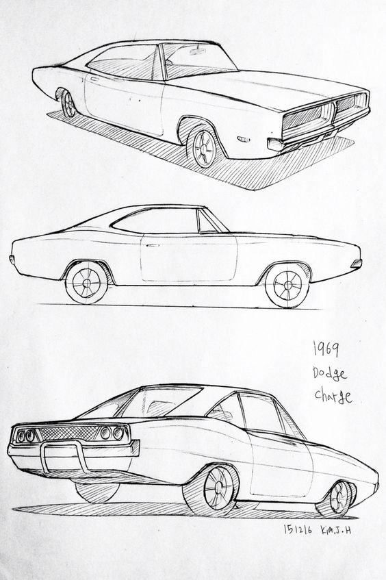 car drawing 151216 1969 dodge charger prisma on paper kim j h daily car drawing pinterest. Black Bedroom Furniture Sets. Home Design Ideas