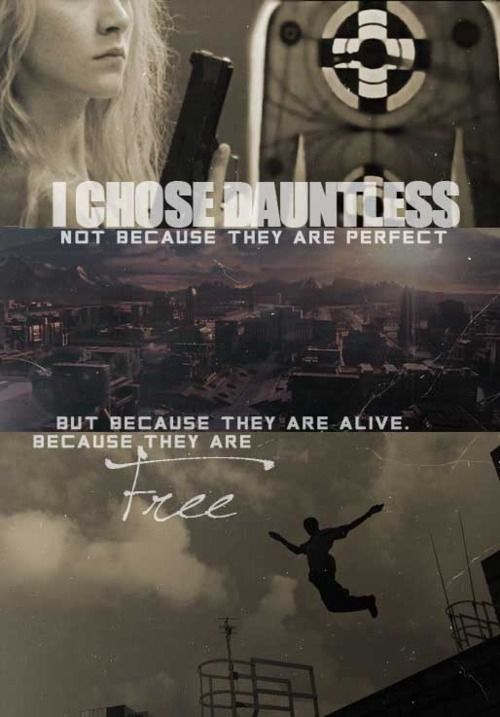 I have to say, this makes me wish that the whole #Divergent world is real... Who cares about jumping off a building if you could be Dauntless?