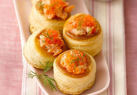 Bouchées citronnées au saumon fuméD