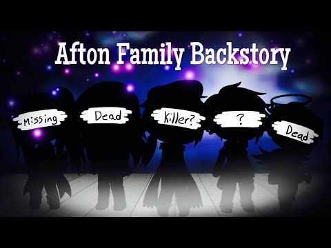 Afton Family Backstory Explaining My Au Fnaf Youtube In 2020 Afton Fnaf Movie Posters