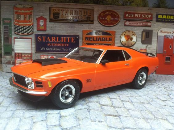 1970 Boss 429 Mustang 3'n1 Plastic Model Car Kit 1/24
