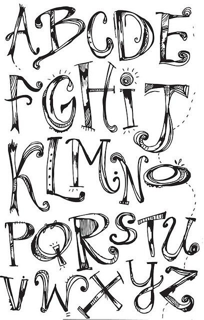 Sweet Looking Typography Alphabet Design Lettering
