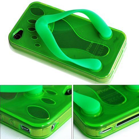 Cute Shoe Slipper TPU Case Cover for Apple iPhone 4 4G AT Green by Bonamart, http://www.amazon.com/dp/B0056F396Q/ref=cm_sw_r_pi_dp_Diobqb0D57ZPH