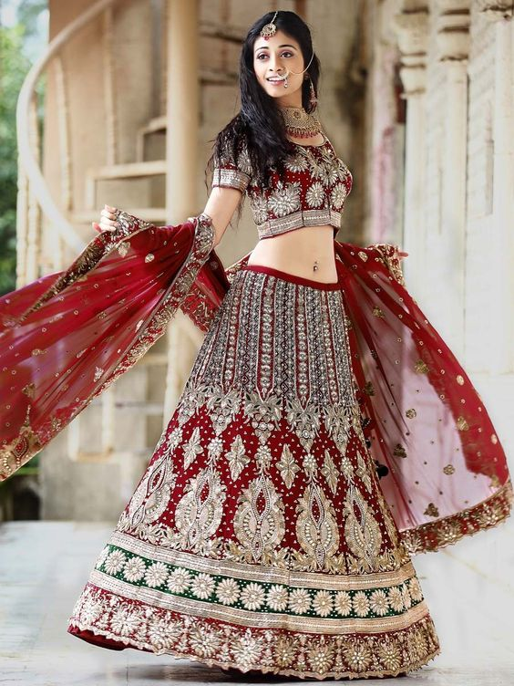 Heavy Work Bridal Lehenga Choli: