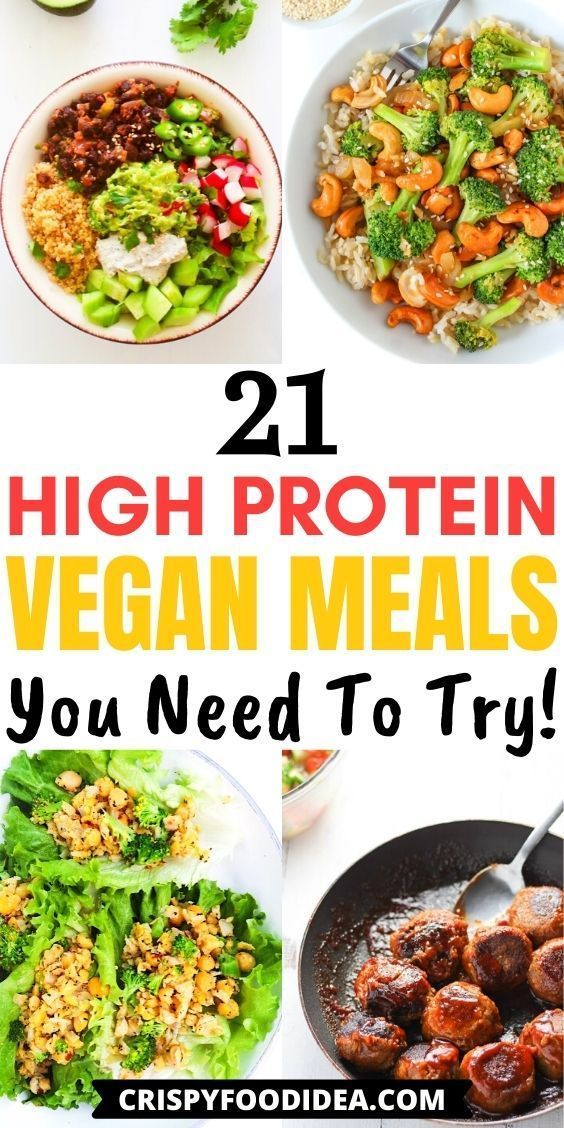 high protein vegan meals