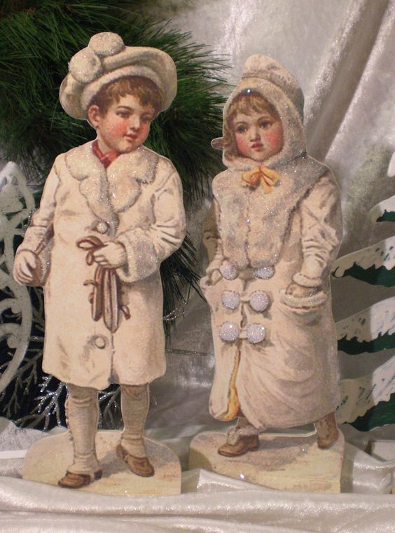 Christmas kids...Couple ... süsses Winterkinder-Paar im Winterwald