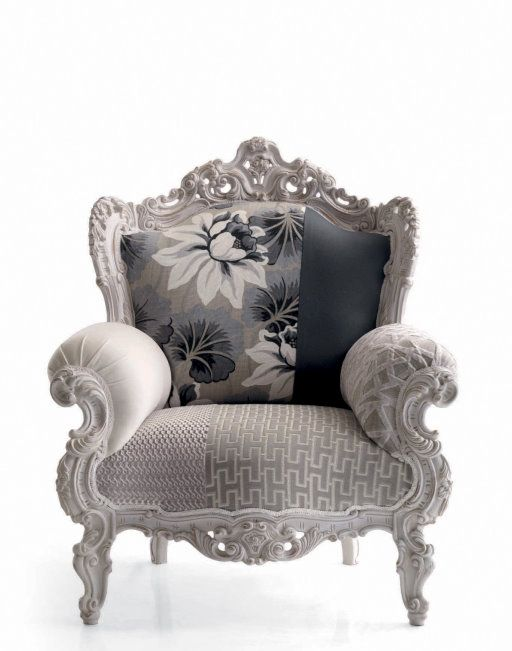 This modern baroque armchair called prince is a cool for Cool armchairs