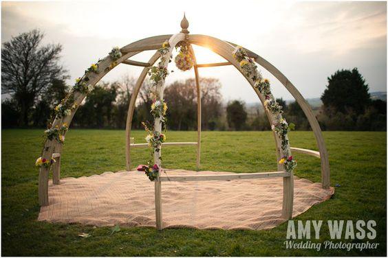 Festival Wedding- outdoor wedding- Ceremony in Pergola