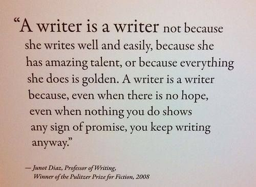A writer is a writer