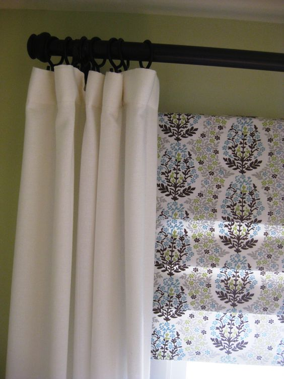 Curtains Ideas curtain rod roman shades : DIY curtain rods from electrical conduit, faux roman shades and ...